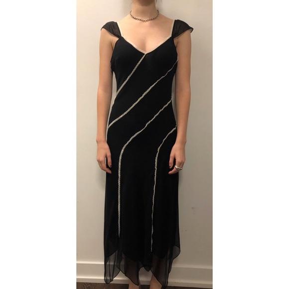 BCBGMaxAzria Dresses & Skirts - BCBG Silk Flutter Sleeve Slip Dress - Size 10
